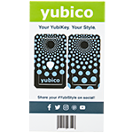 YubiStyle Cover - Polka Blue - A / C NFC