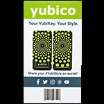 YubiStyle Cover - Polka Green - Ci