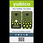 YubiStyle Cover - Polka Green - A / C NFC