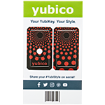YubiStyle Cover - Polka Red - A / C NFC
